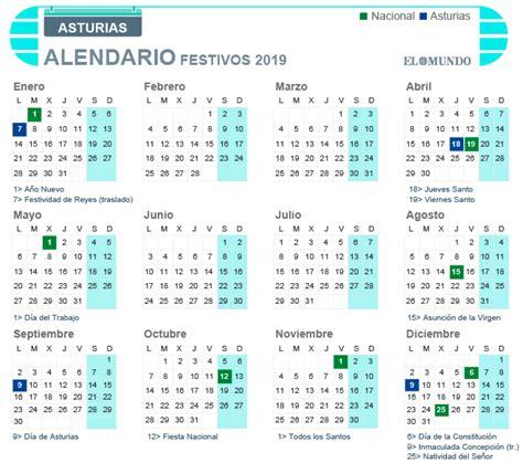 Calendario laboral 2019 de Asturias: días festivos y ...