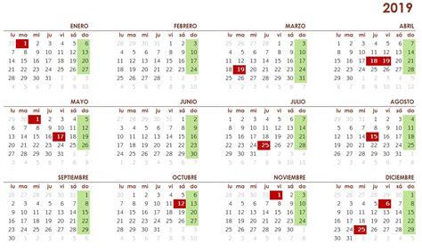 Calendario laboral 2019 en Galicia - Vigopeques