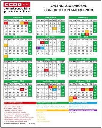 Calendario Laboral de la Construccion