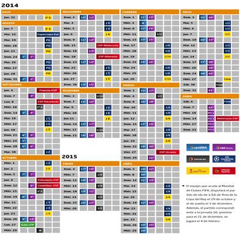 Calendario Liga Adelante  2014 2015 – 5 más el descuento