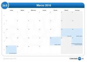 Calendario marzo 2016