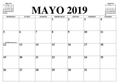 CALENDARIO MAYO 2019 : EL CALENDARIO MAYO 2019 PARA ...