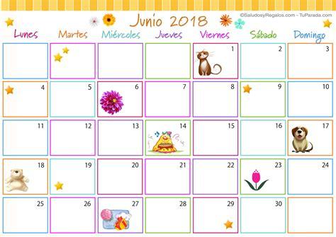 Calendario Multicolor   Junio 2018   Calendario Multicolor ...