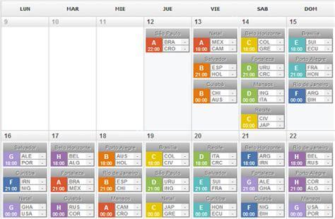 Calendario Mundial 2014 | Mundial
