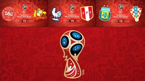 Calendario Mundial 2018: Horario de los partidos de fútbol ...