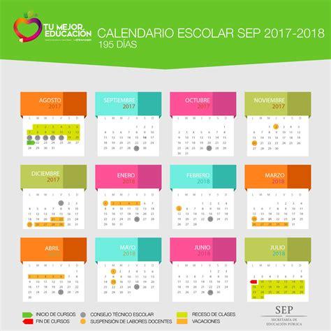 Calendario Oficial SEP 2017-2018 (tres versiones)