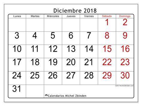 Calendario para imprimir diciembre 2018   Emericus   España