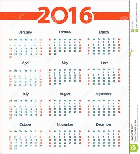 Calendario Por Semanas Semanas 2016 | Calendar Printable 2018