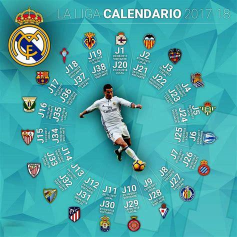 Calendario Real Madrid 2017 2018 | Liga Española Santander