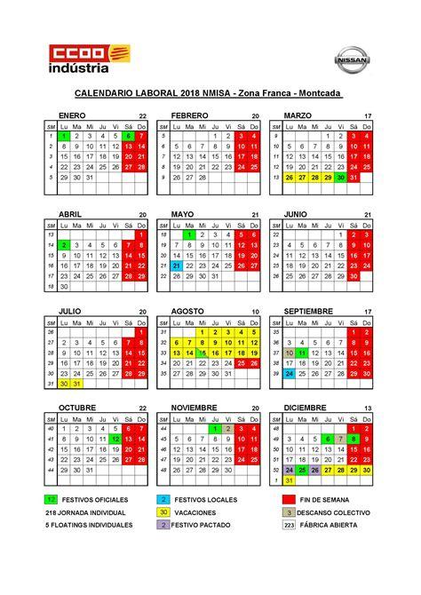Calendario – CCOO Nissan, el blog