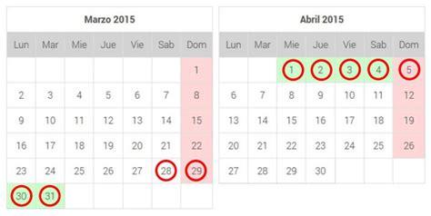 Calendario Semana Santa 2015