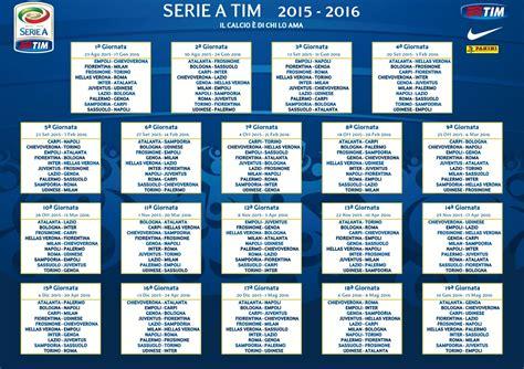 Calendario Serie A 2015-2016 - Serie A Tim