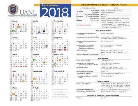 calendario-uanl-2018-2019