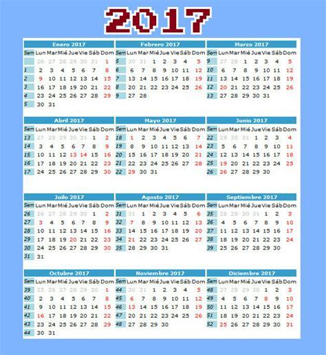 Calendario y días festivos en Colombia 2017.   Tierra ...