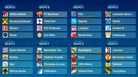 Calendario y horarios confirmados Champions League 2018 ...