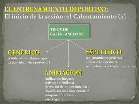 CALENTAMIENTO Y ENTRENAMIENTO DEPORTIVO