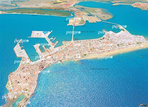 Callejero de Cádiz. Mapa artístico en perspectiva e ...
