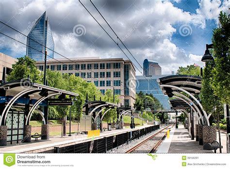 Calles De La Ciudad De Charlotte Carolina Del Norte Imagen ...