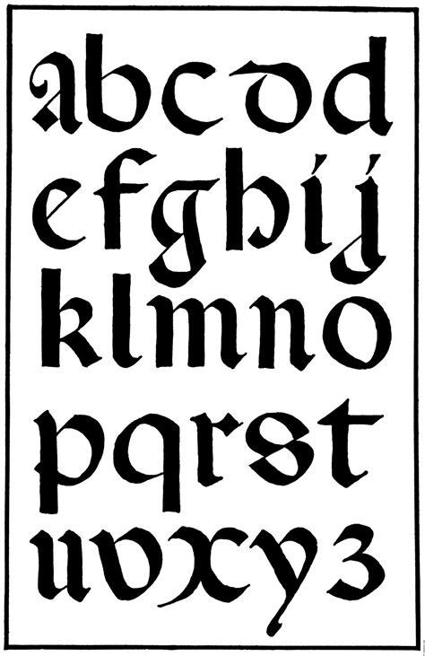 Calligraphy Alphabet : medieval calligraphy alphabet