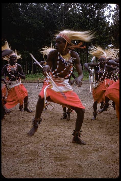 CalPhotos: Tutsi men in ethnic dress dancing the Watusi dance