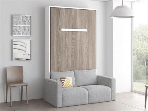 Cama abatible con sofá gris | Muebles Raquel.es