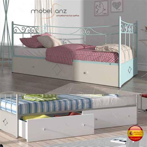 cama nido en forja con cajones de arrastre