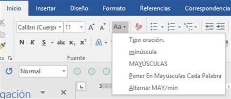 Cambiar entre mayúsculas y minúsculas. Changing text case