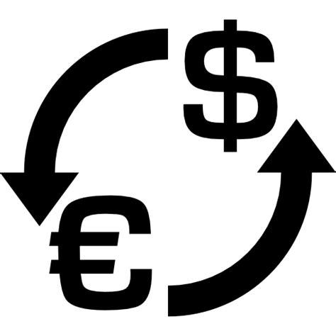 Cambio de moneda dólar euro - Iconos gratis de comercio