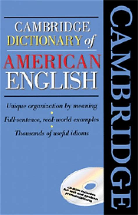 Cambridge - Dictionary of American English with CD-ROM ...