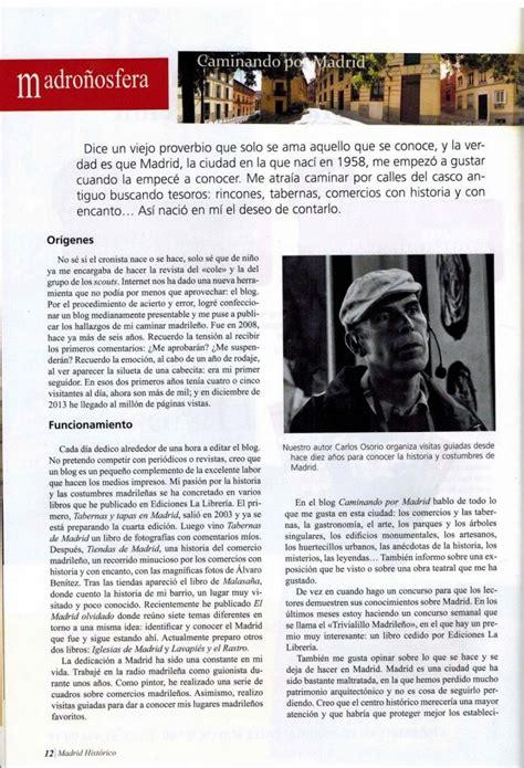 Caminando por Madrid en la revista Madrid Histórico ...