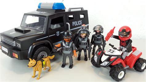 Camion et fourgon de police Playmobil   Police Playmobil