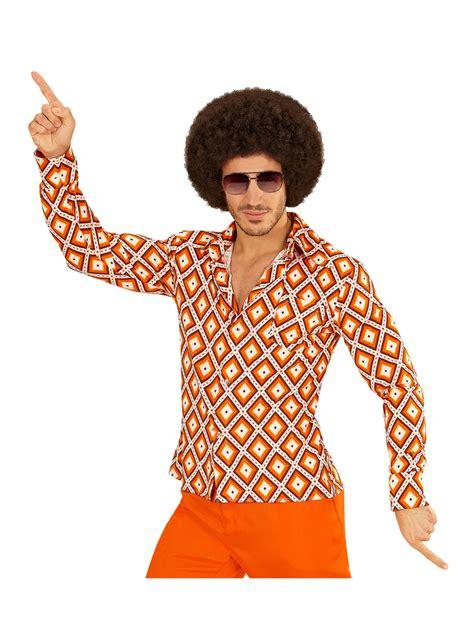 Camisa retro rombos de los años 70 disfraz hombre | Funidelia