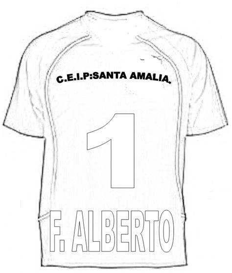 Camiseta de futbol para colorear - Imagui