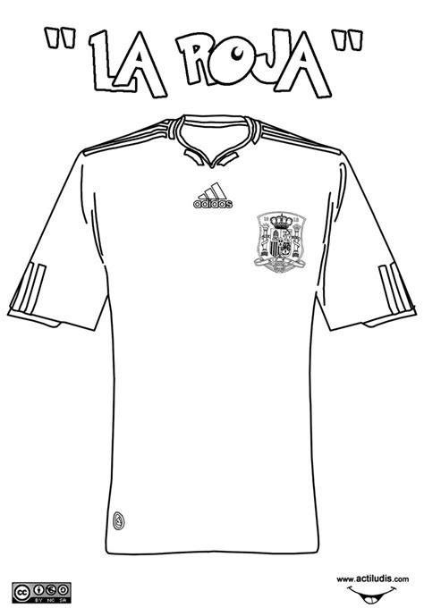 Camiseta de la Roja - Dibujalia - Dibujos para colorear ...