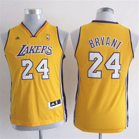 Camiseta Nino Amarillo Bryant Los Angeles Lakers ...