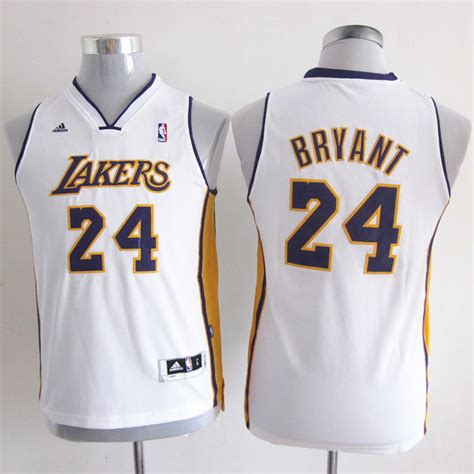 Camiseta Nino de Blanco Bryant Los Angeles Lakers ...