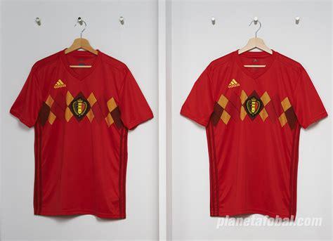 Camiseta titular Adidas de Bélgica Mundial 2018 | Planeta ...