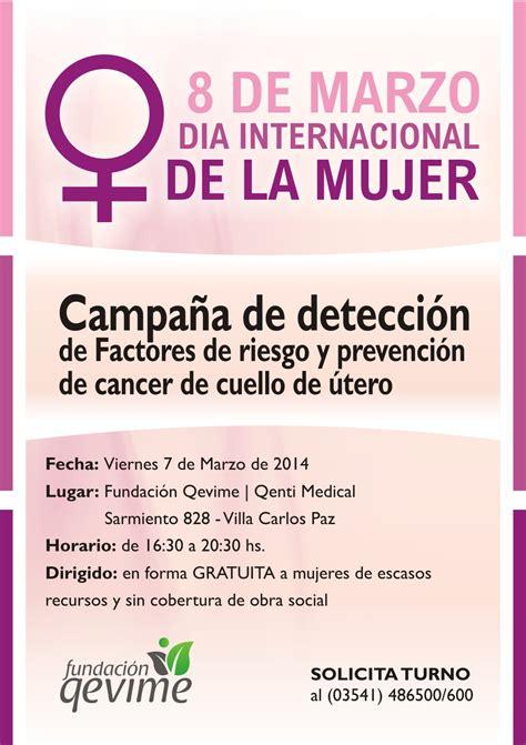 Campaña gratuita para la prevención de cáncer de cuello de ...