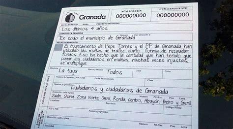 Campaña multas trafico ayuntamiento Granada