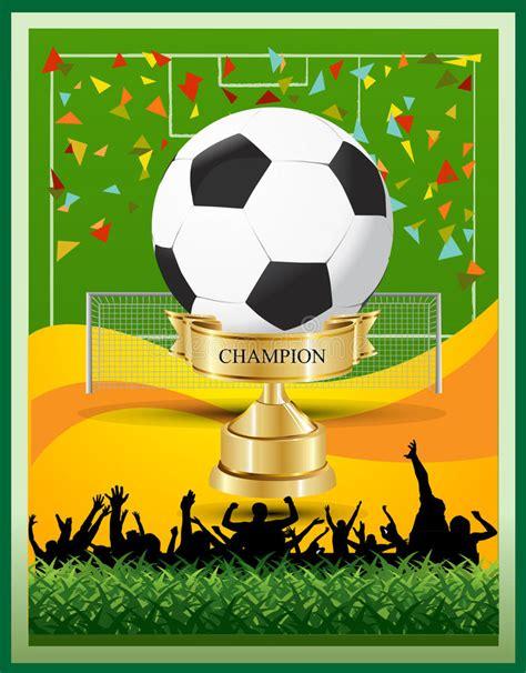 Campeonato De La Taza Del Fútbol Del Ganador Ilustración ...