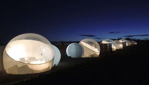 Campera Hotel Burbuja, lujo bajo las estrellas