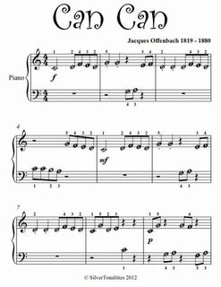 Can Can Beginner Piano Sheet Music Pdf by Jaques Offenbach ...