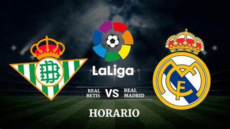 Canal para ver el partido Betis - Real Madrid por TV