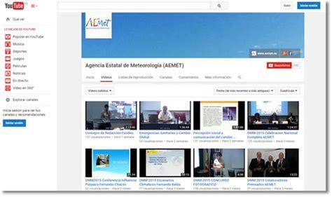 Canal YouTube de la Agencia Estatal de Meteorología (AEMET ...