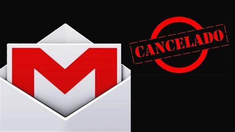 Cancelar envío de correo en Gmail