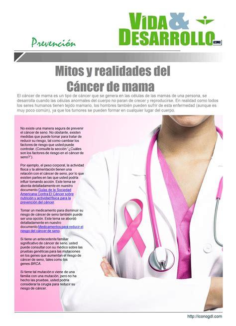 Cáncer de mama… Prevención | ICONO 2015