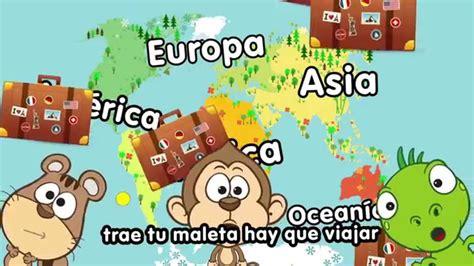 Canción de los continentes   Canciones Infantiles ...