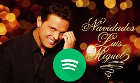 Canciones de Luis Miguel, entre las más escuchadas en Spotify