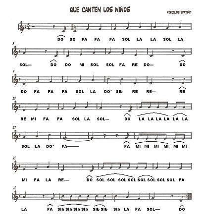 Canciones infantiles | partituras | Pinterest | Canciones ...