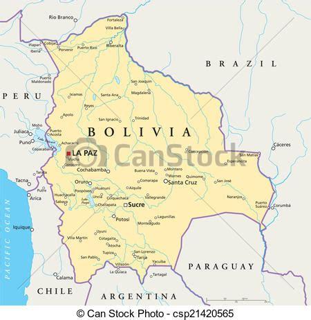 Capital Bolivie Carte